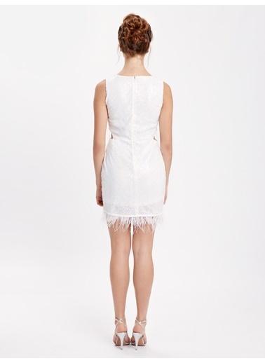 LC Waikiki Mini Abiye Elbise Beyaz